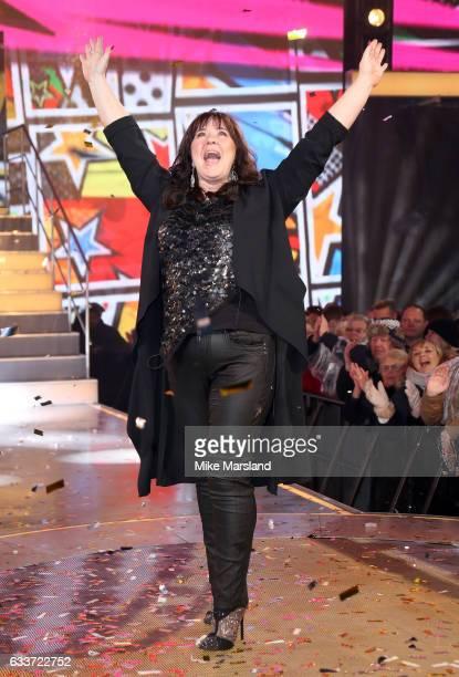 Coleen Nolan celebrates winning Celebrity Big Brother on February 3 2017 in Borehamwood United Kingdom