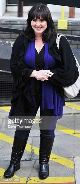 Coleen Nolan is seen leaving ITV studio's on October 20 2010 in London England