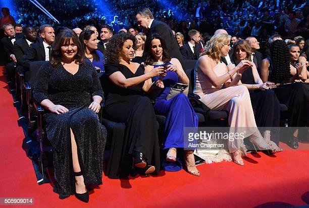 Coleen Nolan Nadia Sawalha Andrea McLean Penny Lancaster and Kaye Adams at the 21st National Television Awards at The O2 Arena on January 20 2016 in...