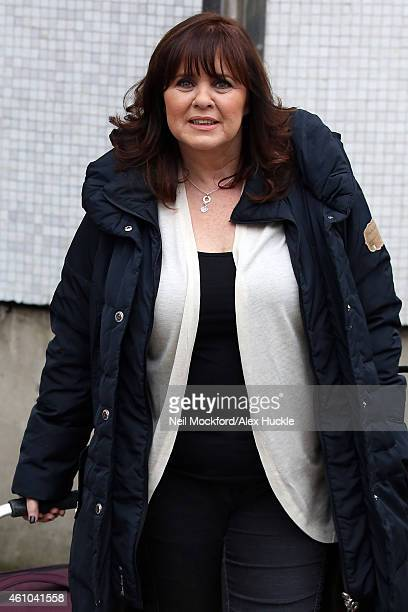 Coleen Nolan seen leaving the ITV Studios after appearing on Loose Women on January 5 2015 in London England