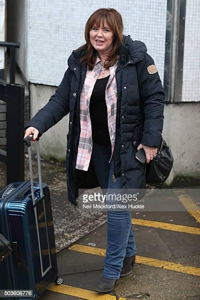 Coleen Nolan seen leaving the ITV Studios on January 6 2016 in London England