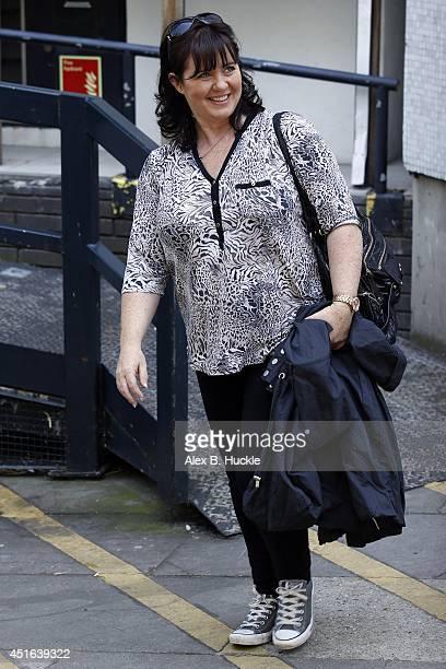 KINGDOM JULY Coleen Nolan seen leaving the ITV Studios on July 3 2014 in London England