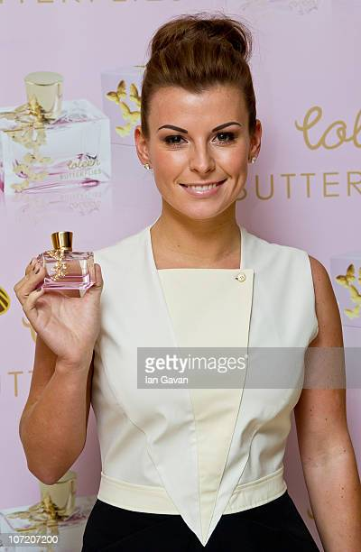 Coleen Rooney attends a photocall to promote her new fragrance 'Butterflies' on November 30 2010 in London England