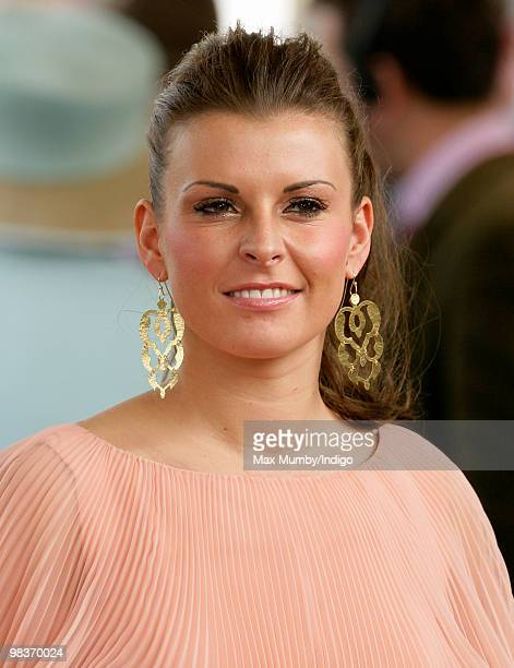 Coleen Rooney attends the John Smith's Grand National Horse race at Aintree Racecourse on April 10 2010 in Liverpool England