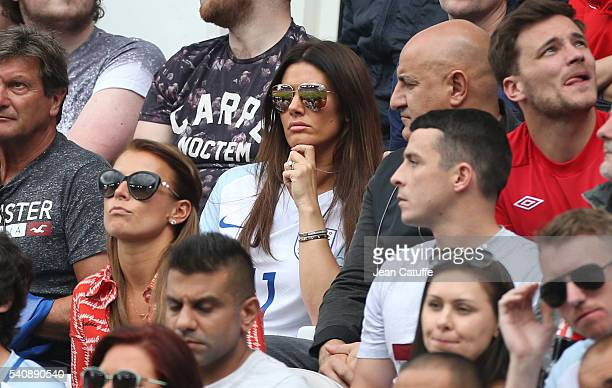 Coleen Rooney wife of Wayne Rooney Rebekah Vardy wife of Jamie Vardy of England attend the UEFA EURO 2016 Group B match between England v Wales at...