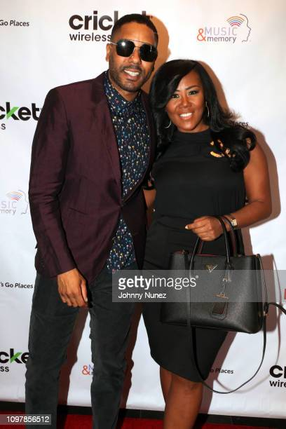 Coleman and Miko Branch attend the Bryan Michael Cox 15th Annual Music Memory PreGrammy Brunch at SLS Hotel at Beverly Hills on February 10 2019 in...