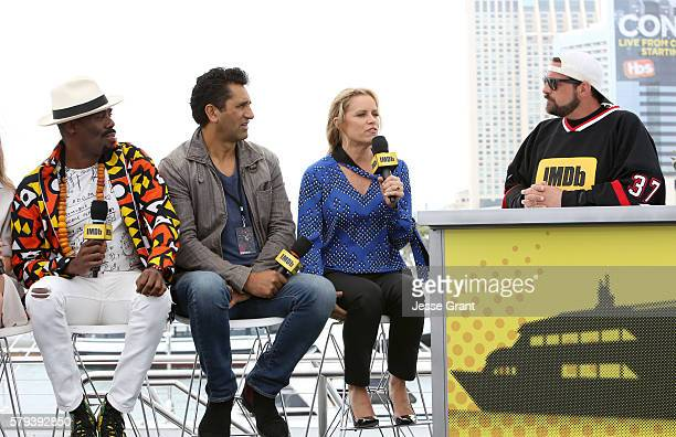 Coleman Domingo, Cliff Curtis and Kim Dickens with director Kevin Smith attend AMC at Comic-Con on July 23, 2016 in San Diego, California.