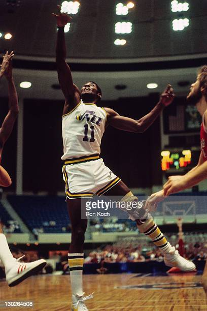 C Coleman of the New Orleans Jazz shoots during a game played circa 1977 in New Orleans Louisiana NOTE TO USER User expressly acknowledges and agrees...