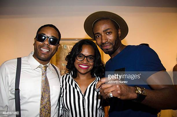 BJ Coleman Sandra Valez and John Anthony Williams attend the Beckemberg Cricket Club Spring/Summer 2015 Presentation at Castle Fitz Johns Gallery on...