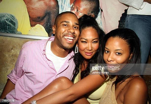 Coleman,Kimora Lee Simmons and Vanessa Simmons at the Hotel Gansevort in New York, New York