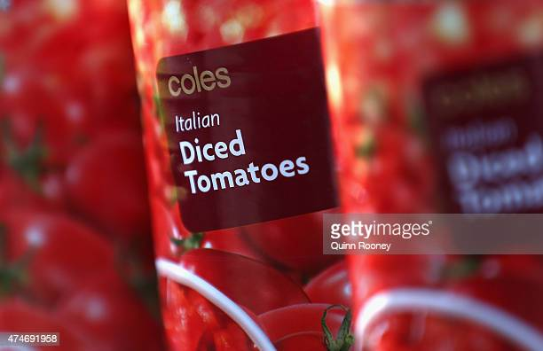 Coles brand products on display at Coles supermarket on May 25 2015 in Melbourne Australia In a bid to regain its title as Australia's distinguished...