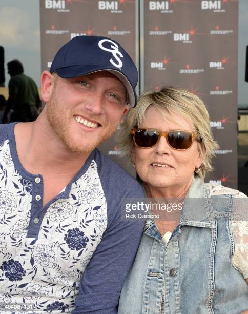 Cole's Mother helps celebrate Singer/Songwriter Cole Swindell's First No1 Song Chillin' It at BMI Nashville on May 27 2014 in Nashville Tennessee