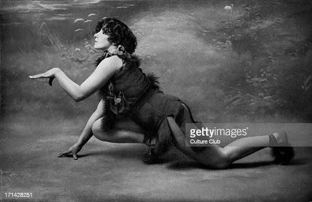 Colette - 1906 as Le Petit Faune in Le Desir, La Chimere et l'Amour at theatre Mathurins. Her performance caused a scandal. Very revealing costume...