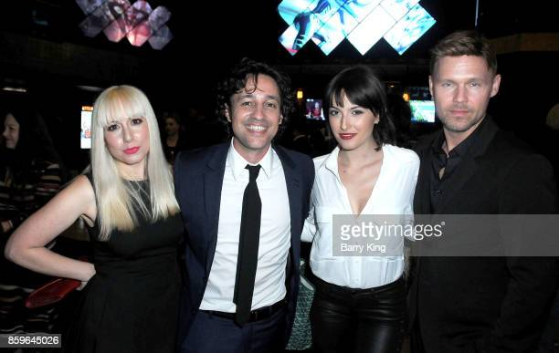 DJ Colette actor/singer Thomas Ian Nicholas actress Lulu Jovovich and actor Scott Haze attend 'The Lost Tree' screening at TCL Chinese 6 Theatres on...