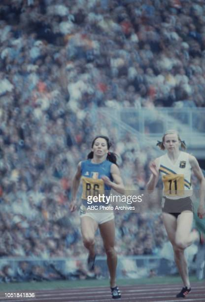 Colette Besson Allison RossEdwards competing in the Women's 400 metres event at the 1972 Summer Olympics / the Games of the XX Olympiad Olympiastadion