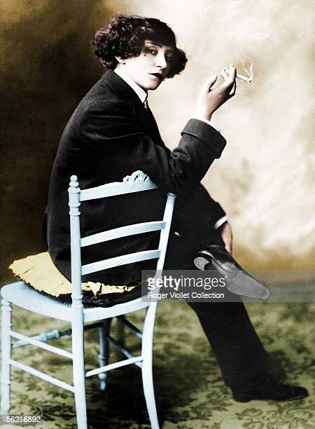 Colette French writer Colourized photo