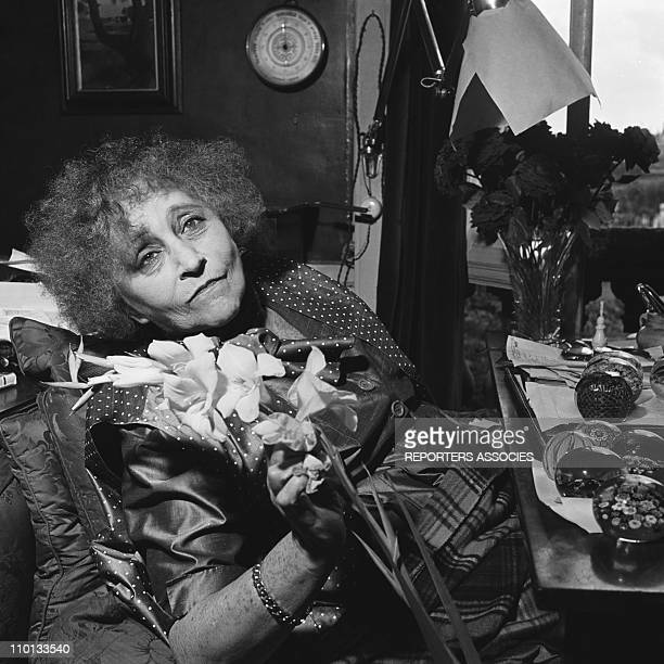 Colette in her apartment at 'Palais Royal' in 1953