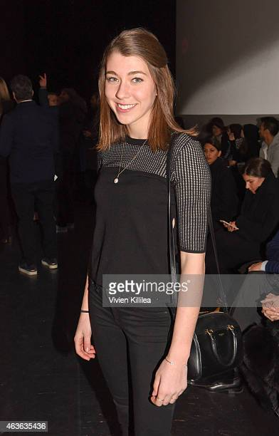 Colette McDermott attends the rag bone show during MercedesBenz Fashion Week Fall 2015 at Spring Studios on February 16 2015 in New York City