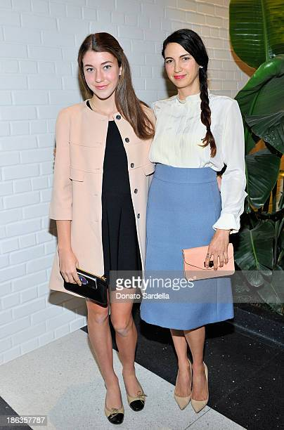 Colette Rose McDermott and actress Shiva Rose attend Chloe Los Angeles Fashion Show Dinner hosted by Clare Waight Keller January Jones and Lisa Love...