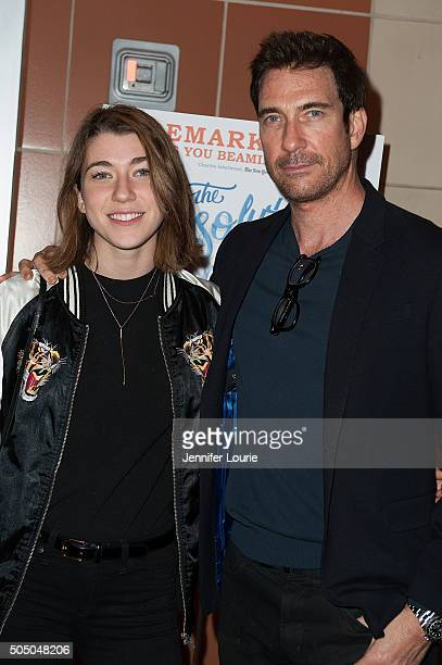 Colette Rose McDermott and Dylan McDermott arrive at the opening night of The Absolute Brightness of Leonard Pelkey at the Kirk Douglas Theatre on...