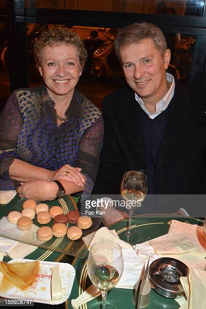 Colette Siljegovic and FIFA agent Milan Calasan attend the 'Prix De Flore 2012' Literary Award Ceremony Party at the Cafe de Flore on November 8 2012...