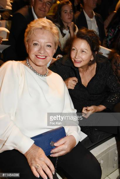 Colette Siljegovic owner of La Closerie des Lilas and the Flore and a guest attend the Stephane Rolland Haute Couture Fall/Winter 20172018 show as...