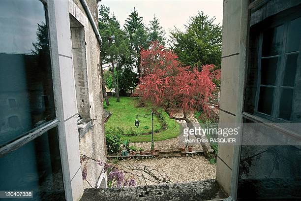 Colette's garden in Saint Sauveur Burgundy France seen from the first floor