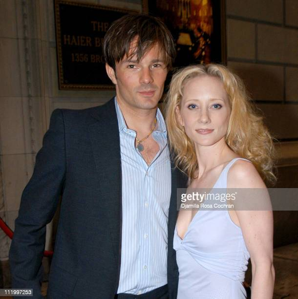 Coley Laffoon and Anne Heche during 1st Annual Show People Tony Awards Party at Gotham Hall in New York City New York United States