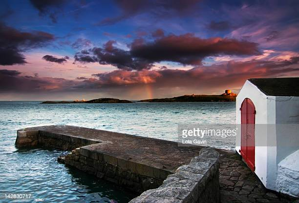 coliemore harbour - dalkey stock pictures, royalty-free photos & images
