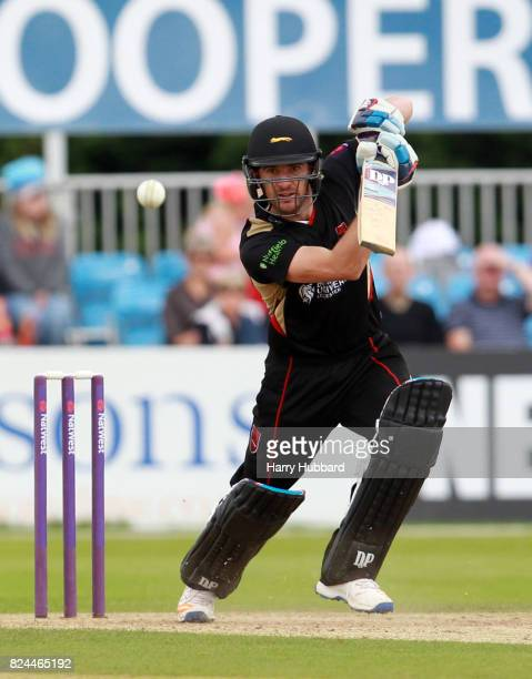 Colin Ackermann of Leicestershire Foxes in action during the Natwest T20 Blast match between Derbyshire Falcons and Leicestershire Foxes at The 3aaa...