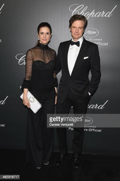 Colin and Livia Firth arrive to the Chopard Backstage Dinner Afterparty at the CannesMandelieu Aerodrome during the 67th Annual Cannes Film Festival...