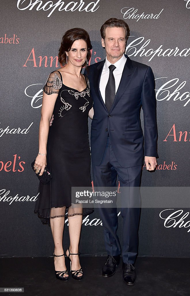 Colin and Livia Firth attend the Chopard Gent's Party at Annabel's in Cannes during the 69th Cannes Film Festival on May 14, 2016 in Cannes, France.