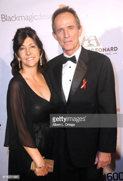 Colin Anderson and guest arrive for Society of Camera Operators Lifetime Achievement Awards held at Loews Hollywood Hotel on February 3 2018 in...