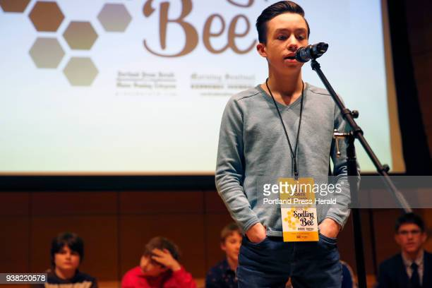 Colin Aponte an eighthgrader at Downeast Homeschool Coop won the 2018 Maine State Spelling Bee on Saturday at University of Southern Maine by...