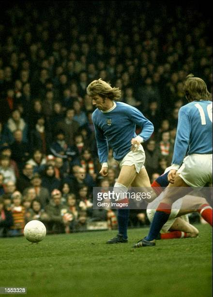Colin Bell of Manchester City in action during a Division One match Mandatory Credit Allsport UK /Allsport