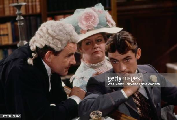 Colin Blakely, Joan Sims, Leigh Lawson appearing in the period drama ABC tv movie 'Love Among the Ruins'.