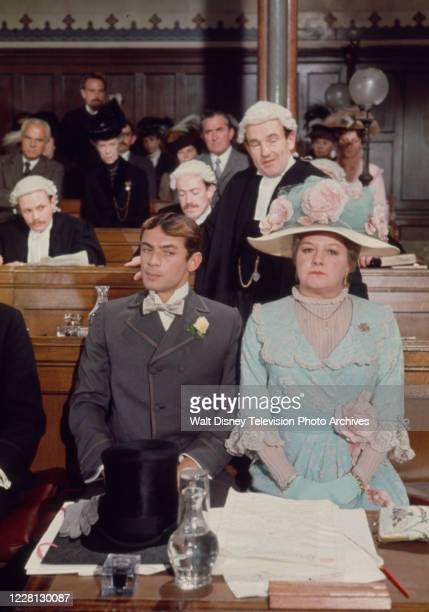 Colin Blakely, Leigh Lawson, Joan Sims appearing in the period drama ABC tv movie 'Love Among the Ruins'.