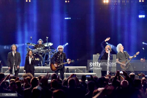 Colin Blunstone of The Zombies The Bangles' Susanna Hoffs Rick Allen of Def Leppard Ian Hunter Joe Elliott of Def Leppard and Queen's Brian May...