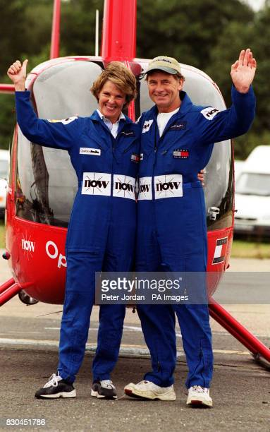 Colin Bodill from Nottingham and grandmother Jennifer Murray from Hemington Frome Somerset the recordbreaking duo that landed safely at Brooklands...