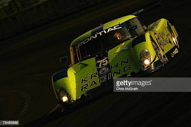 Colin Braun and Max Papis drive the Krohn Racing Pontiac Riley during the GrandAm Rolex Sports Car Series race on March 3 2007 at the Autodromo...