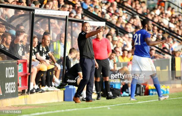 Colin Calderwood manager of Cambridge United during the PreSeason Friendly match between Cambridge United and Leicester City at Abbey Stadium on July...