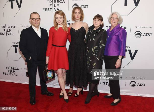 Colin Callender Kathryn Newton Maya Hawke Heidi Thomas and Rebecca Eaton attend the screening of 'Little Women' during the 2018 Tribeca Film Festival...
