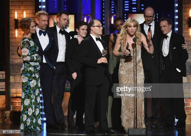 Colin Callender Sonia Friedman and the cast and crew of Harry Potter and the Cursed Child Parts One and Two accept the award for Best Play onstage...
