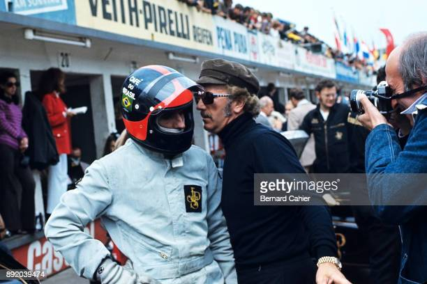 Colin Chapman Emerson Fittipaldi Grand Prix of Germany Hockenheimring 02 August 1970 Colin Chapman with Emerson Fittipaldi