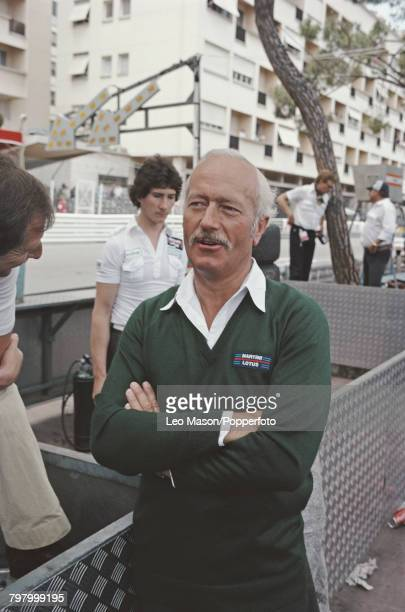 Colin Chapman founder of Lotus Cars and Team Lotus pictured at the 1979 Monaco Grand Prix in Monte Carlo on 27th May 1979