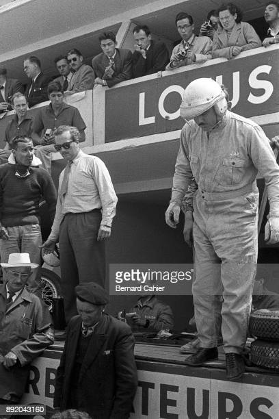 Colin Chapman Jay Chamberlain 24 Hours of Le Mans Le Mans 23 June 1957 Colin Chapman in the Le Mans pits