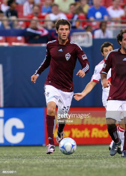 Colin Clark of the Colorado Rapids plays the ball against the New York Red Bulls at Giants Stadium in the Meadowlands on May 30, 2009 in East...