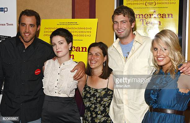 """Colin Clemens, Hannah Bailey, Director Nanette Burstein, Mitch Reiinholt, and Megan Krizmanich attend the New York premiere of """"American Teen"""" at the..."""
