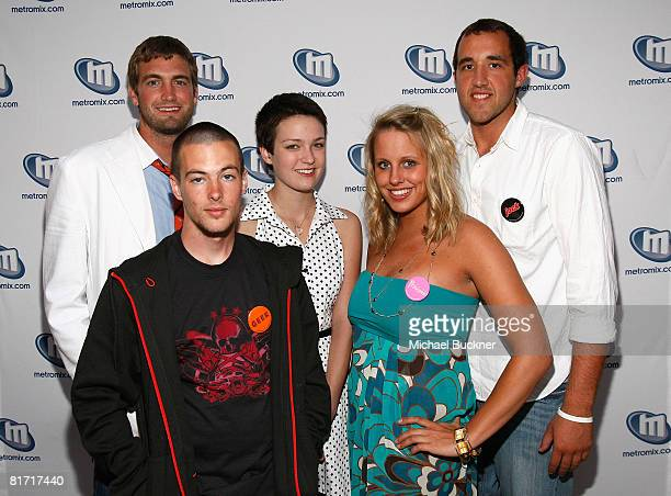 Colin Clemens, Hannah Bailey, Jake Tusing, Megan Krizmanich, and Mitch Reinholt attend the 2008 Los Angeles Film Festival's American Teen at Ford...