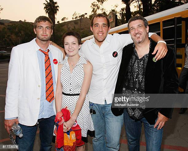Colin Clemens, Hannah Bailey, Mitch Reinholt, and producer Jordan Roberts attend the 2008 Los Angeles Film Festival's American Teen at Ford...